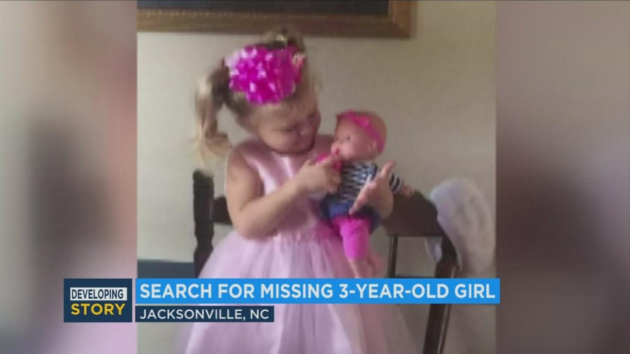 Authorities are still searching for the missing 3-year-old girl from Onslow County, North Carolina, that prompted an Amber Alert Monday.