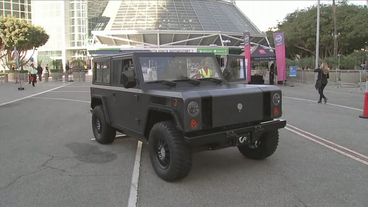 The Bollinger B1 is an offroad electric prototype on display at the Los Angeles Auto Show.