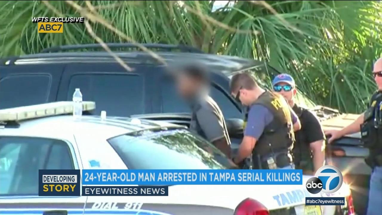 A recent college graduate who was charged in four slayings that terrorized a Tampa neighborhood over the past 51 days used the same gun in all of the shootings, police said.