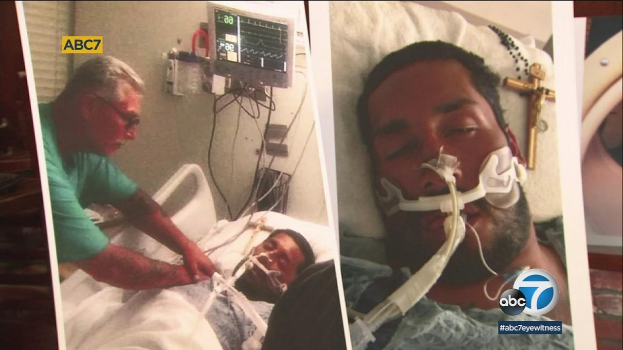 Vincent Valenzuela Jr. is shown in photos while hes at the hospital before he died.
