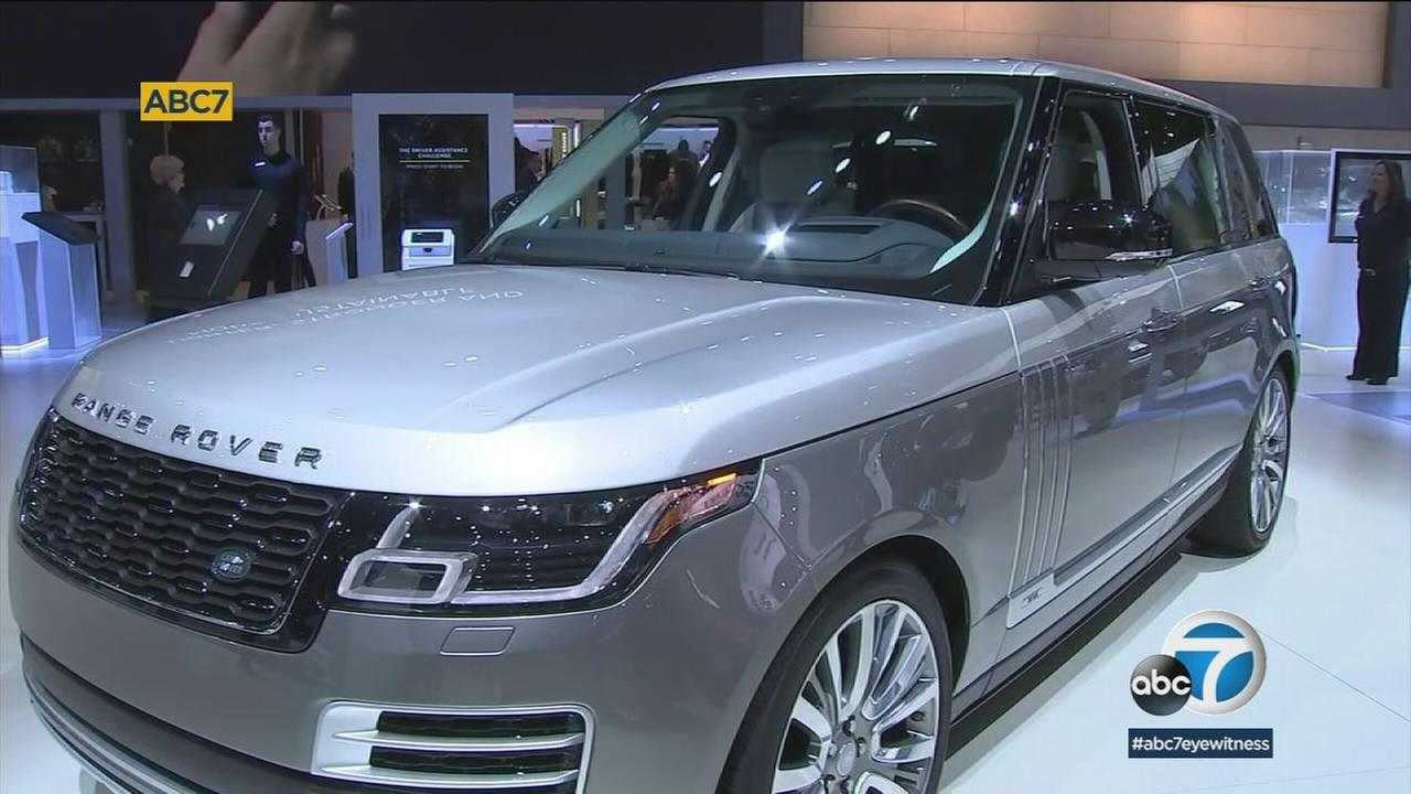 Range Rover is one of many brands debuting new models at the Los Angles Auto Show.