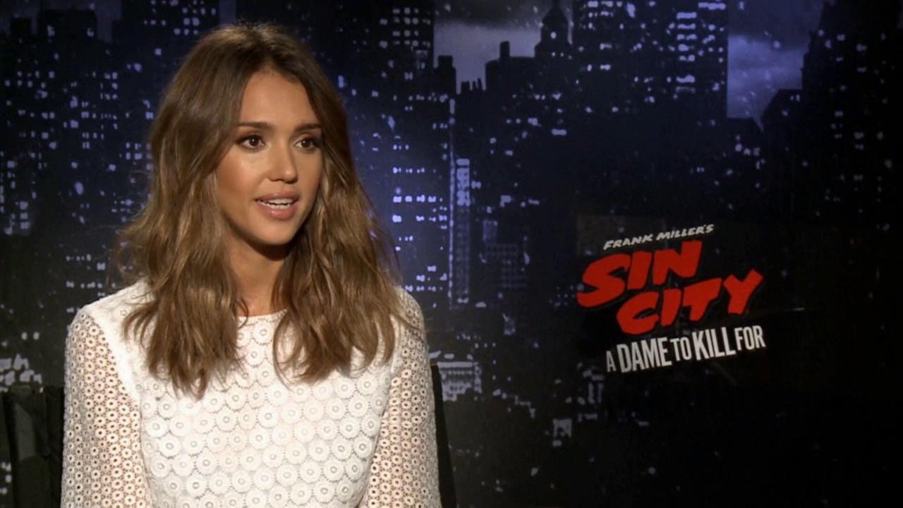 Jessica Alba talks about the film, Sin City: A Dame to Kill For.