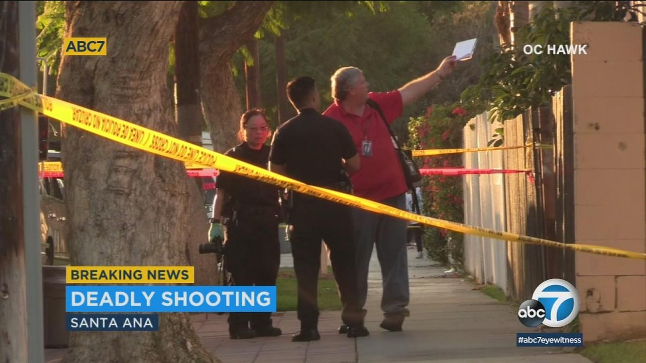 One person is dead after a shooting in Santa Ana Friday, police said.