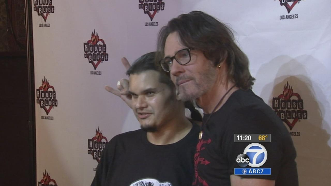 Ruben Velasco, left, and Rick Springfield are shown on Wednesday, Aug. 20, 2014.