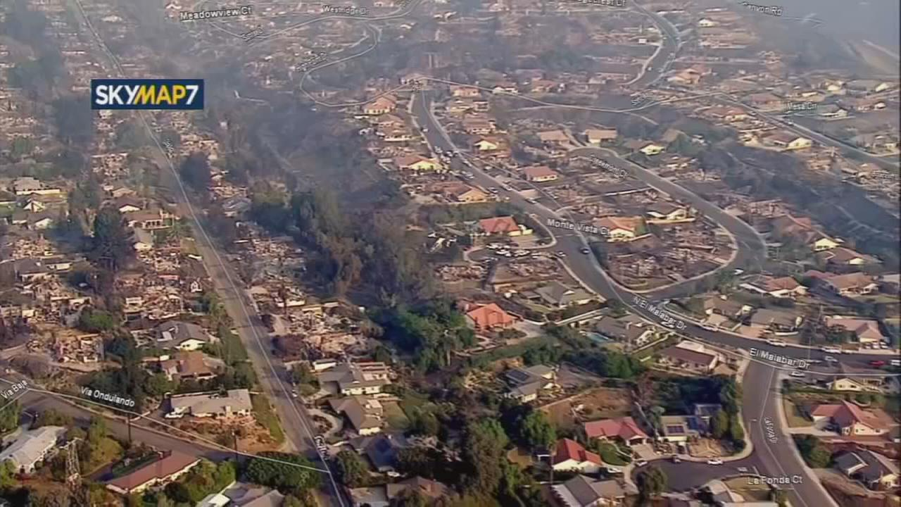 Aerial footage shows destruction from Thomas fire