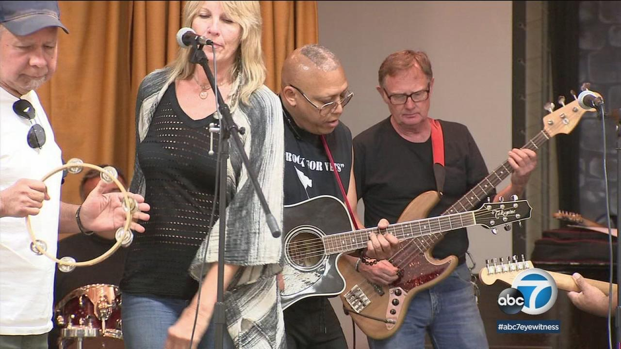 The Rock for Vets group, which is part of a larger nonprofit organization, use music as a form of therapy to help disabled veterans.