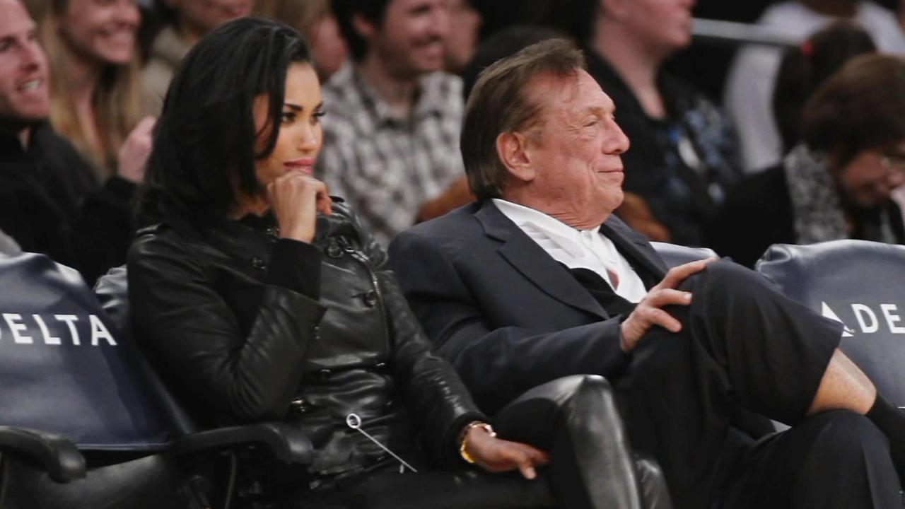 V. Stiviano, left, and former L.A. Clippers owner Donald Sterling, right, are seen in this undated file photo.
