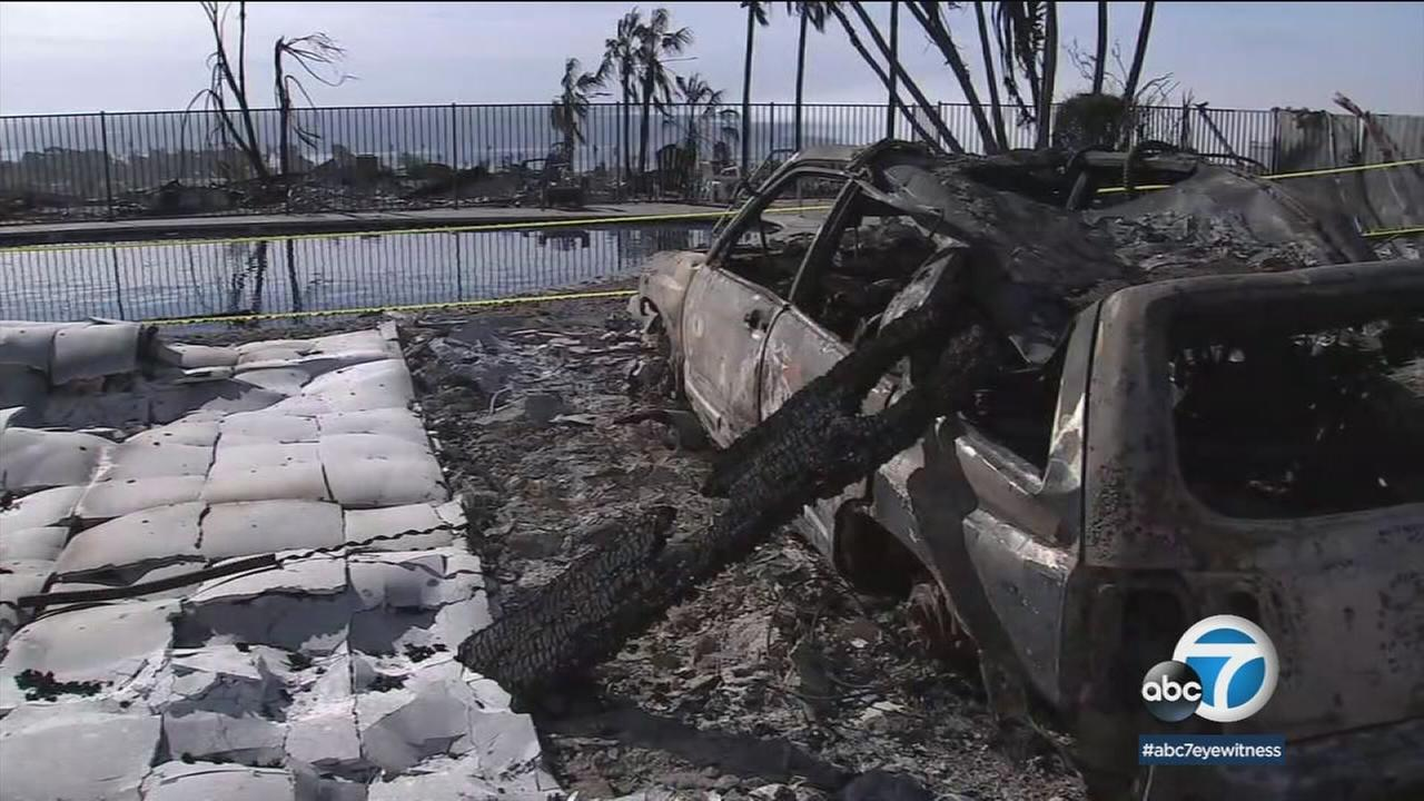 Debris is seen after the Thomas Fire ravaged parts of Ventura County.