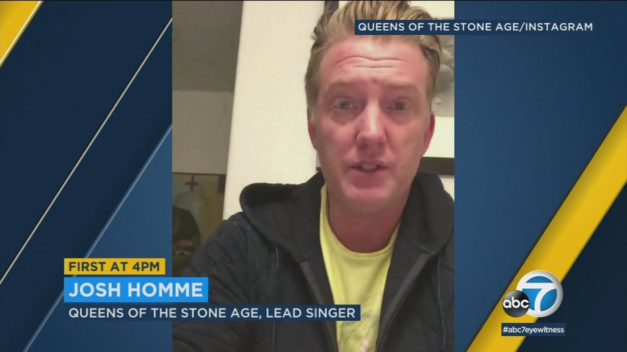 Queens of the Stone Age frontman Josh Homme is apologizing for kicking a photographers camera, hitting her in the face Saturday night at The Forum.