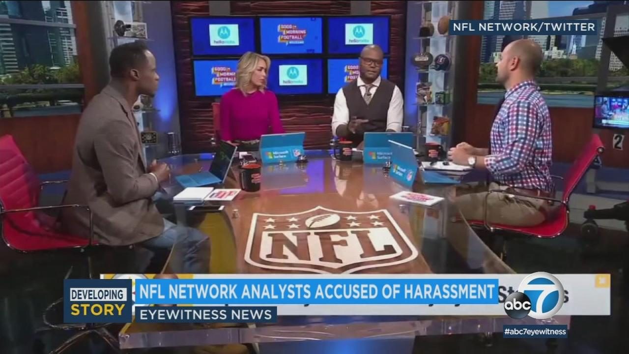 Marshall Faulk and two other NFL Network analysts were suspended after a woman who worked as a wardrobe stylist at the network accused them of sexual misconduct in a lawsuit.