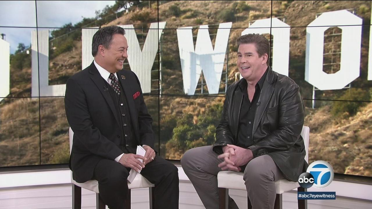 Actor/comedian Ralph Garman (right) chats with ABC7s George Pennacchio about upcoming projects.