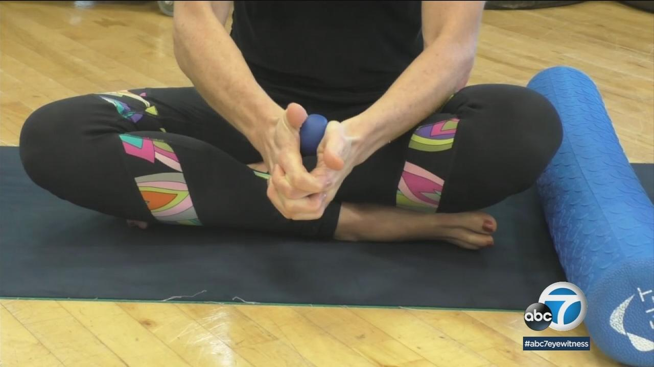Using small balls and soft foam rollers with techniques from a program called the MELT method, many with fibromyalgia find they can calm their central nervous system down.