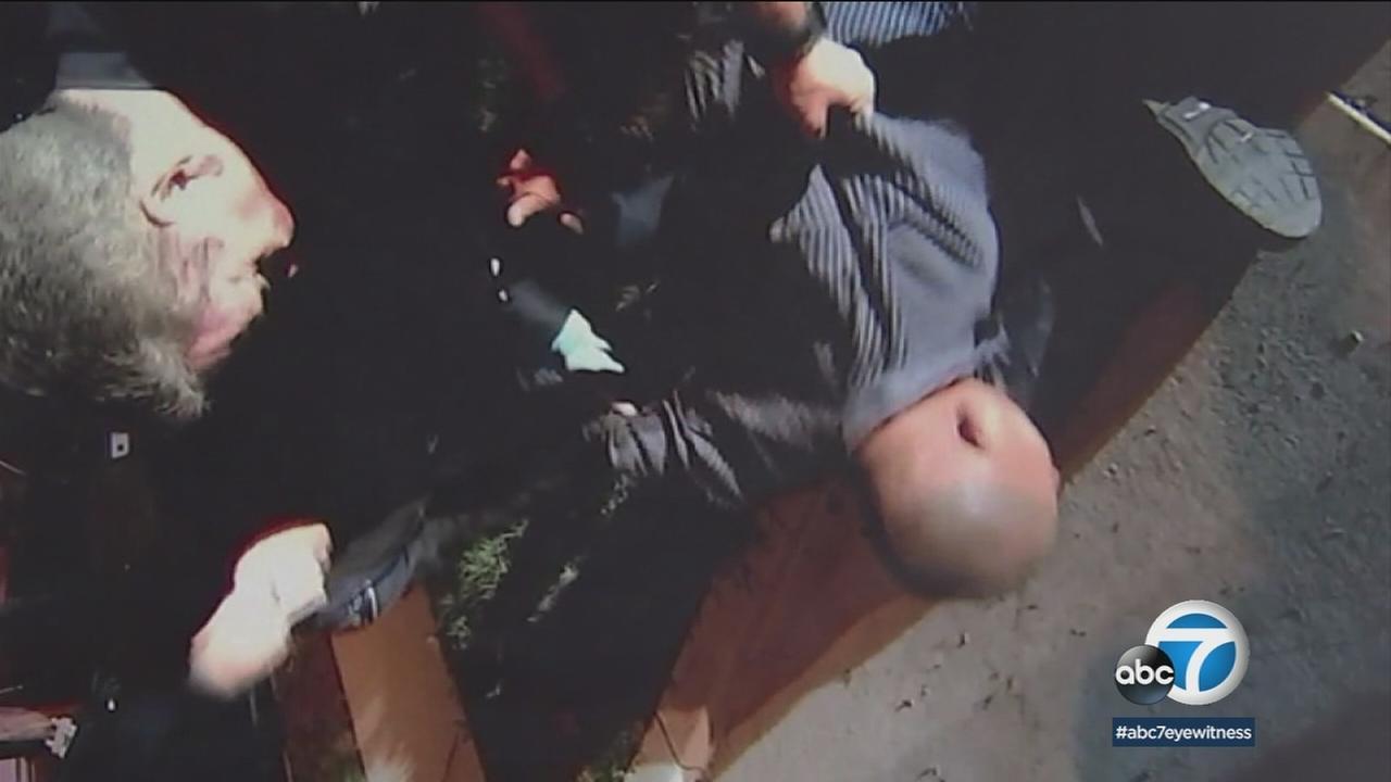 Video shows Montebello police arresting George Ortiz in 2016.