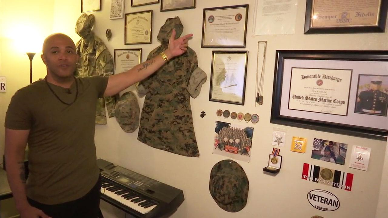 U.S. Marine war veteran Elliott McKenzie explains how he turned to music to help cope with PTSD.