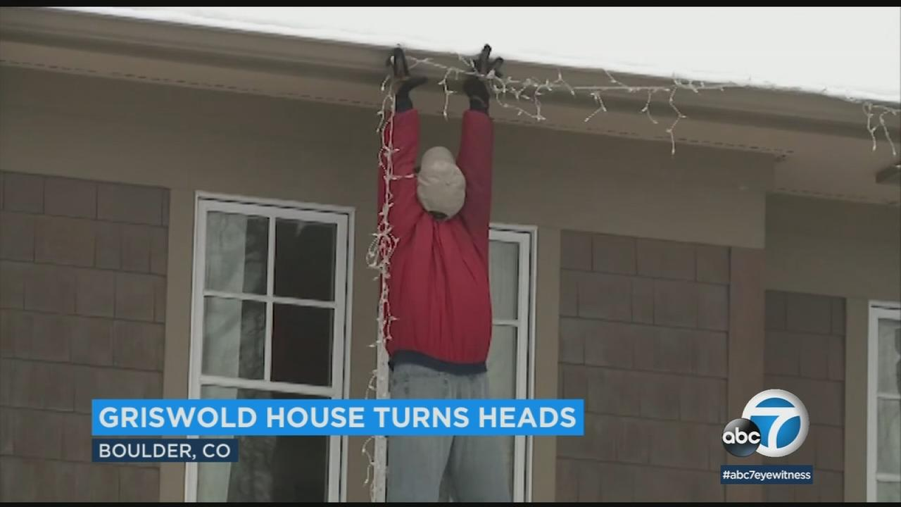 A Christmas display inspired by the Chevy Chase comedy National Lampoons Christmas Vacation fooled some neighbors into calling 911.