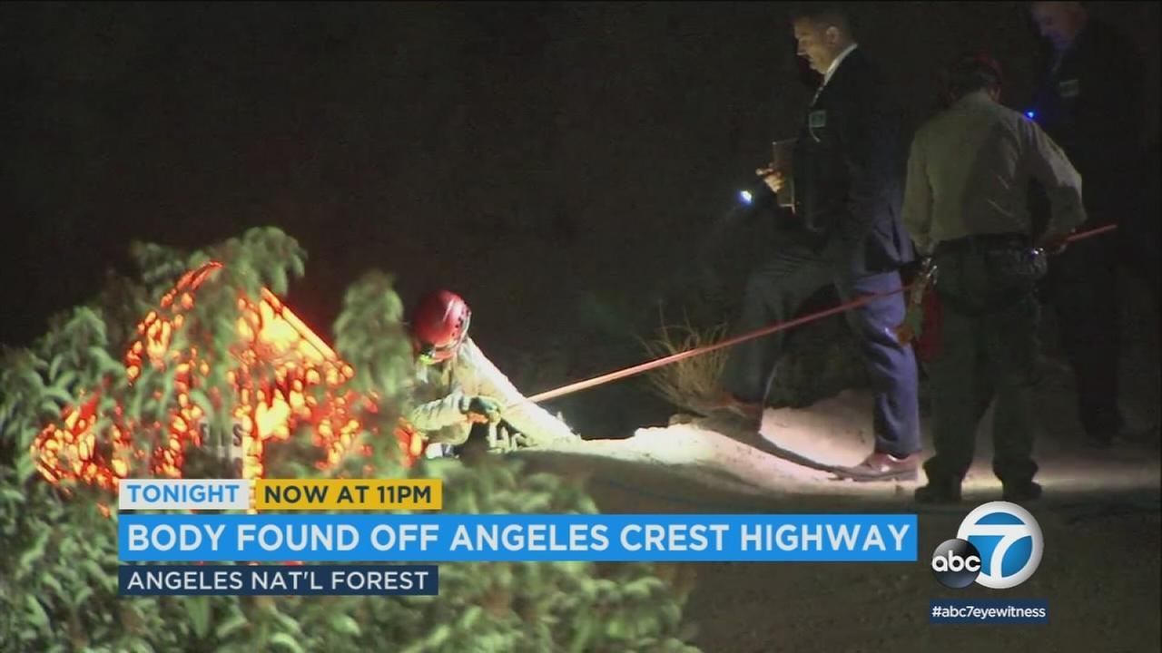 A womans body was found Sunday in the Angeles National Forest, the apparent victim of a stabbing.