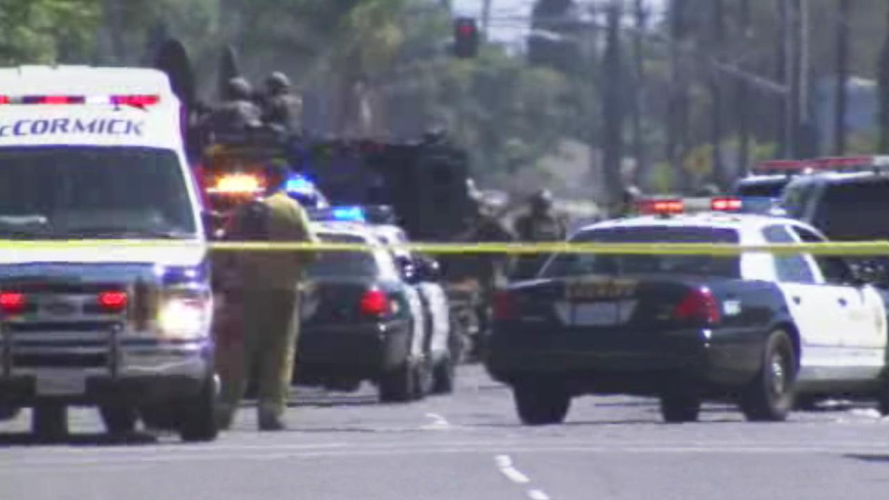 A man suspected of shooting an L.A. County sheriffs deputy was shot dead during a barricade standoff in Lynwood Tuesday afternoon.