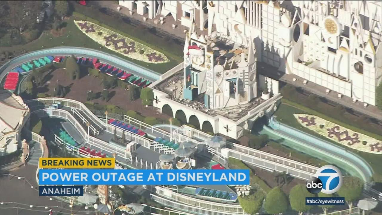A power outage affected part of Disneyland on Wednesday, impacting guests during the parks busy holiday season.