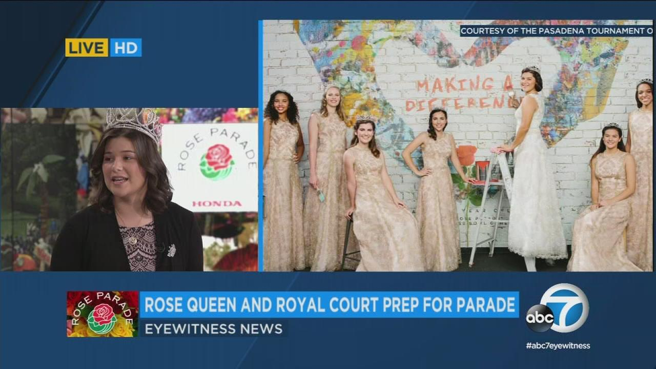 2018 Rose Queen Isabella Marez talks to Eyewitness News about her reign, leading up to the annual Rose Parade Jan. 1.