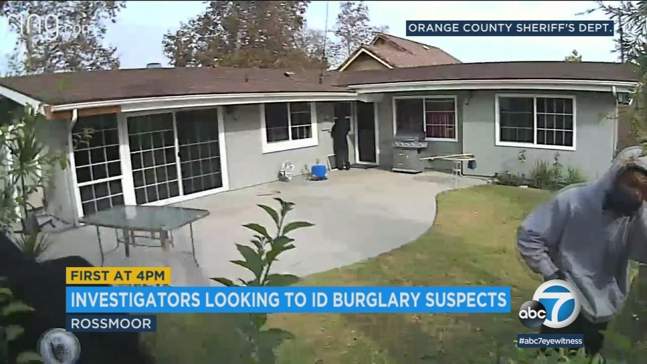 Orange County Sheriffs Department investigators are seeking three men suspected in a string of home burglaries in the Rossmoor community in recent weeks.