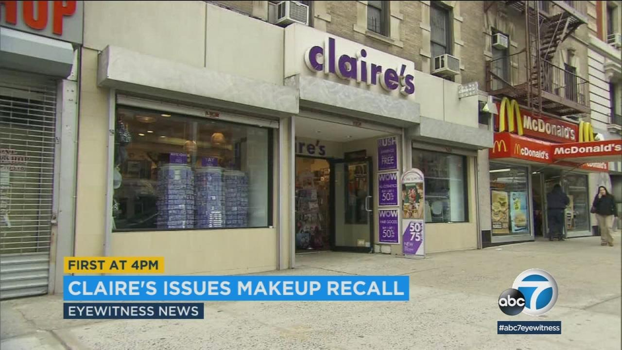 A popular accessory store that caters to young girls is recalling some of its makeup over concerns about asbestos.