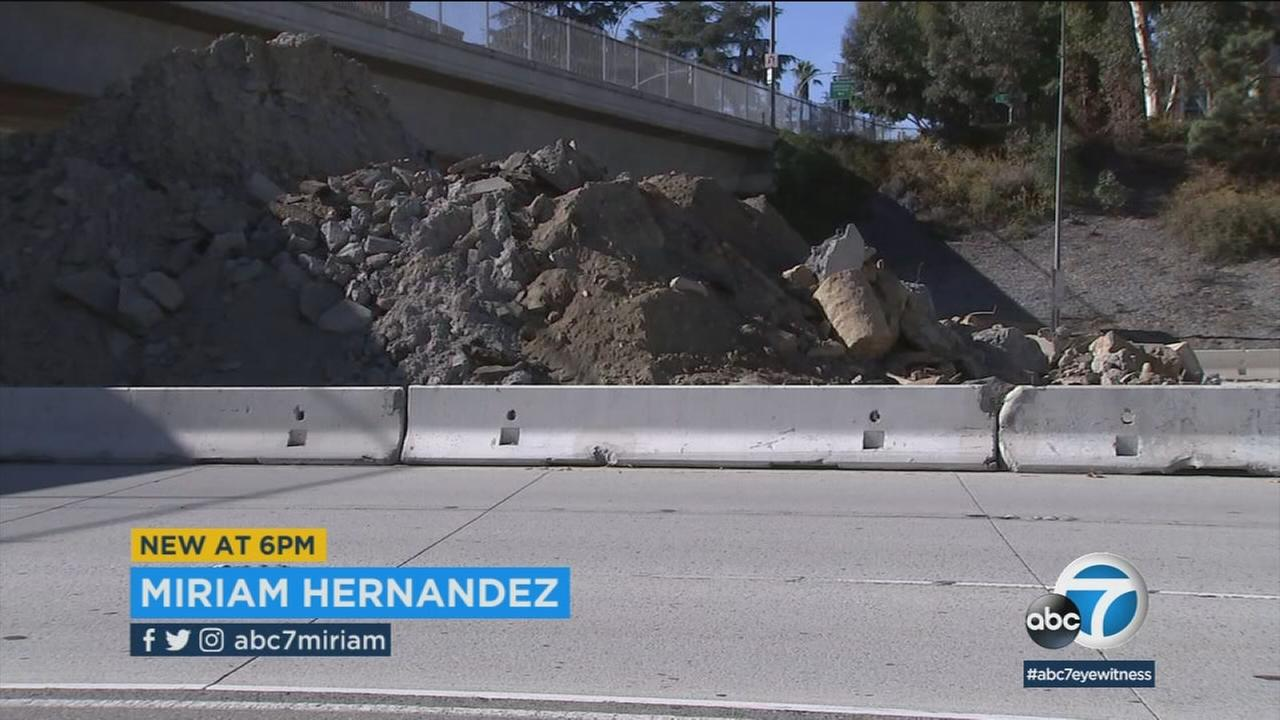 Theres a concrete recycling operation in the stub of the 210 Freeway, and for Pasadena neighbors, its a headache.