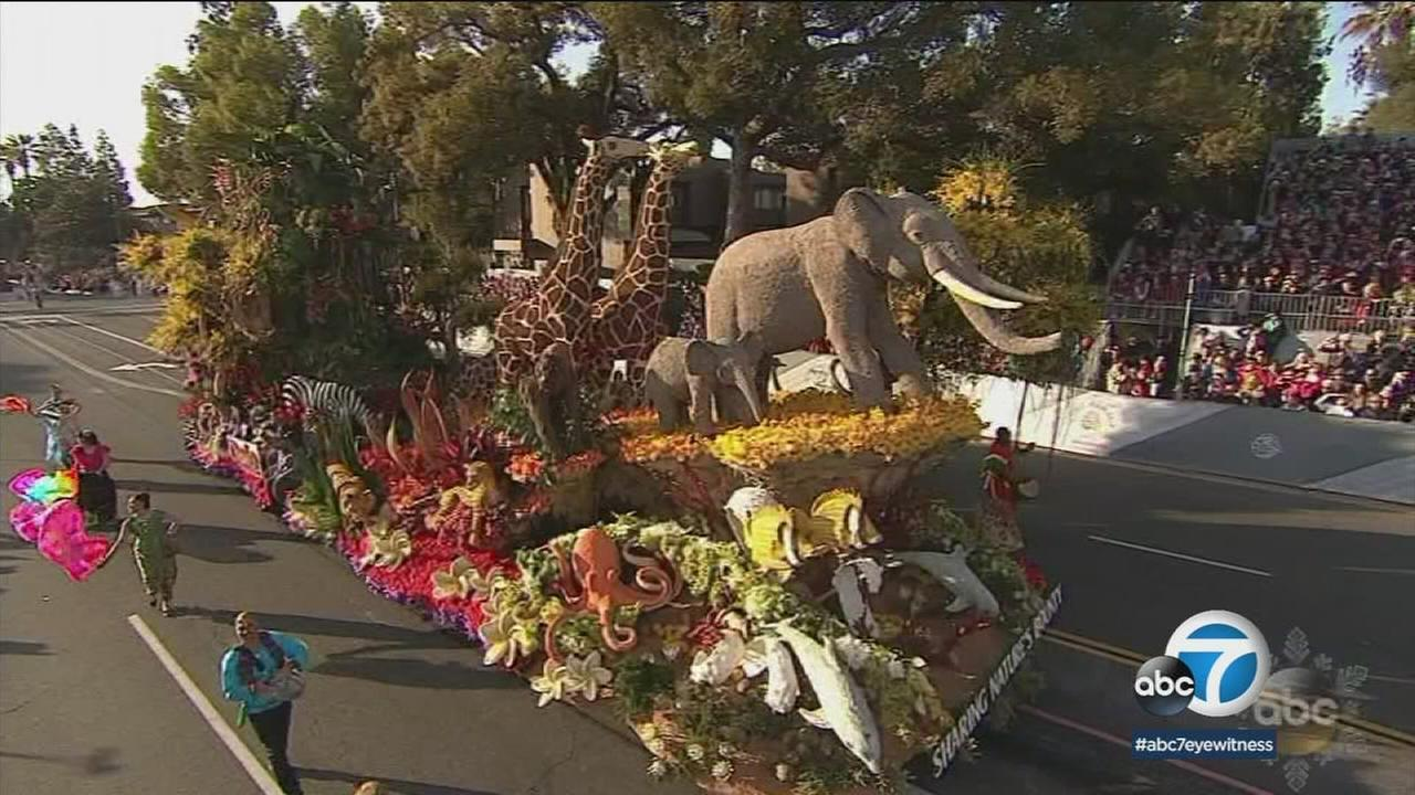 One of the winning Rose Parade floats was shown during the parade on Monday, Jan. 1, 2018.