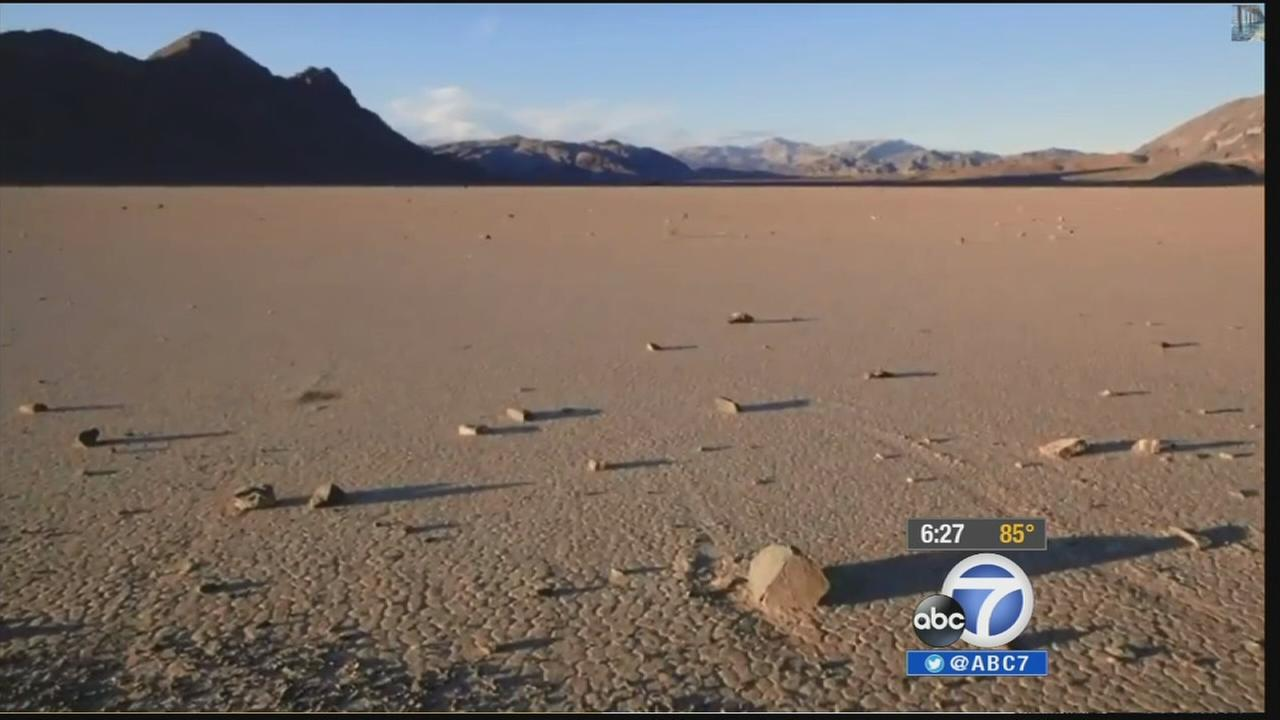 On a dry, flat desert stretch in the middle of Death Valley, massive rocks moving across the desert floor have been puzzling visitors for decades.
