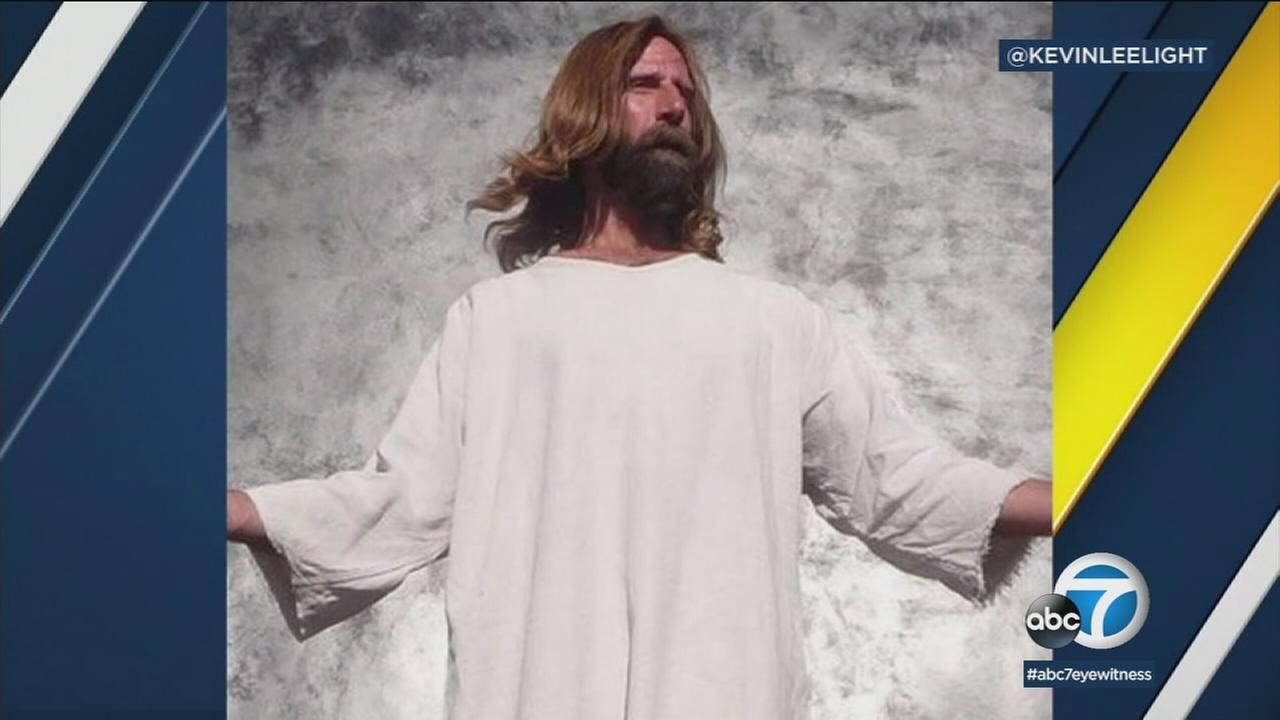 Kevin Lee Light, a man known to many as Hollywood Jesus, is shown in an undated photo from his Instagram account.