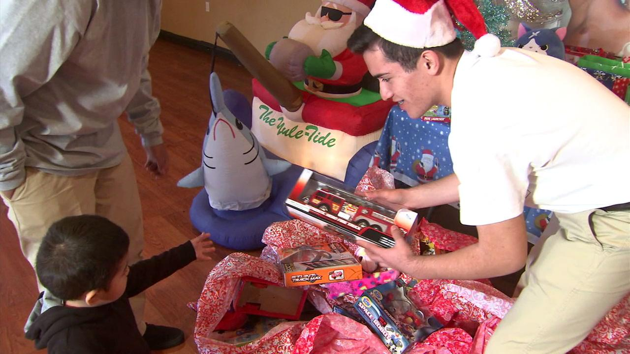 Cool Kid Julio Ornelas of Pico Rivera collected hundreds of toys and books to donate to children with cancer.