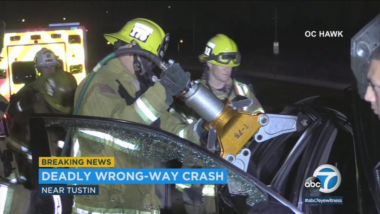 A wrong-way driver slammed into a car on a freeway in Orange County, in a crash that left an innocent motorist dead.