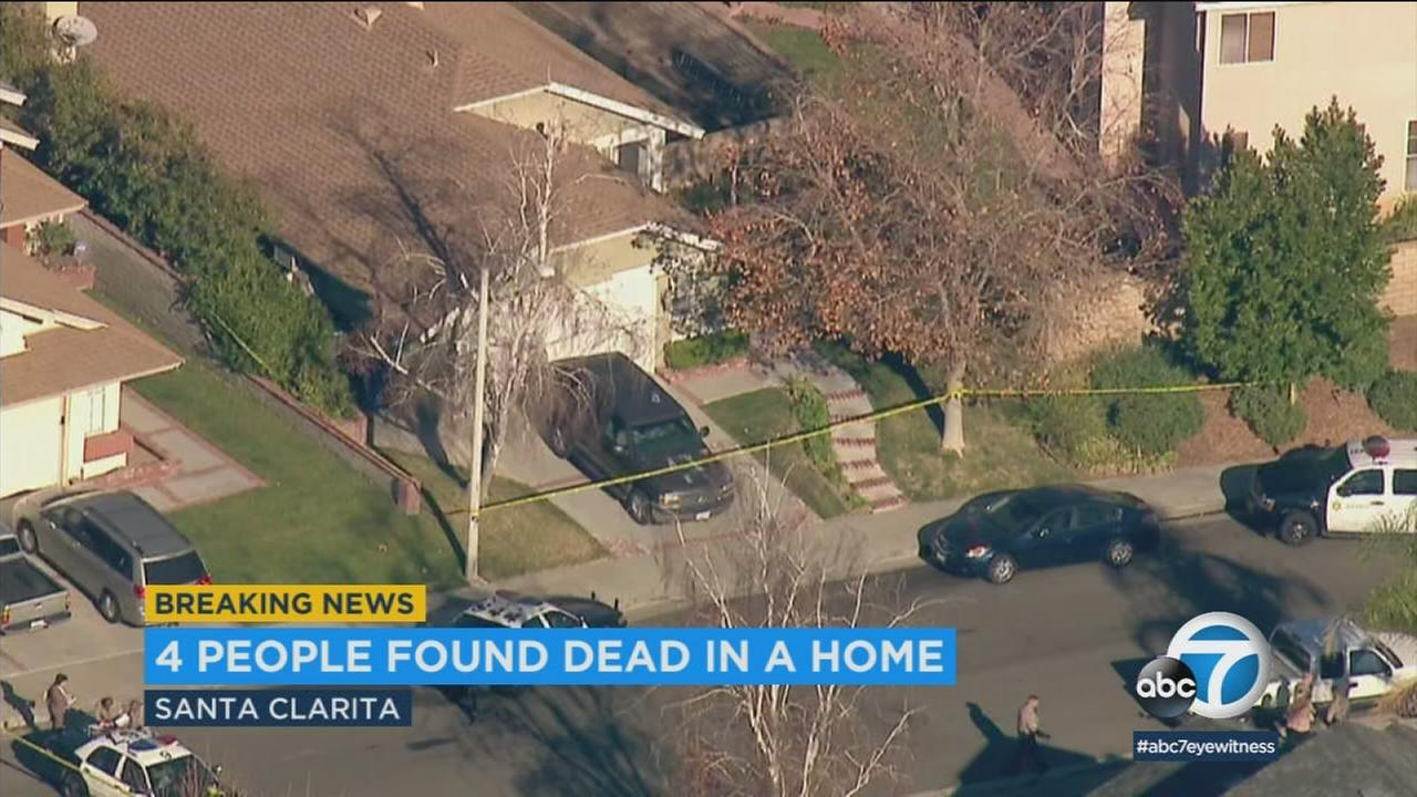 Four people are dead, including an underage boy, following a shooting at a Santa Clarita home Friday morning.