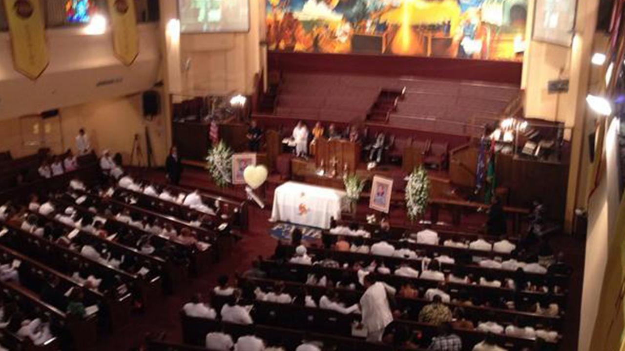 Funeral services were held for Ezell Ford at First African Methodist Episcopal Church in Los Angeles on Saturday, Aug. 30, 2014.