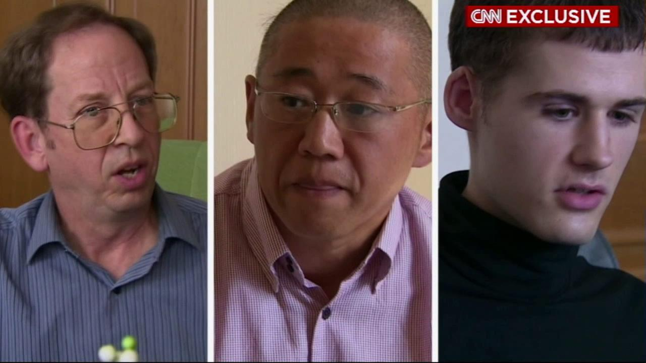Left to right: Jeffrey Fowle, Mathew Miller and Kenneth Bae