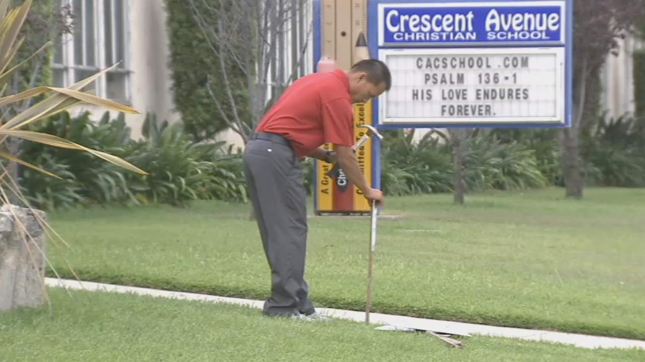 Parents showed up at Crescent Avenue Christian Preschool in Buena Park Tuesday morning to find the school was shut down.
