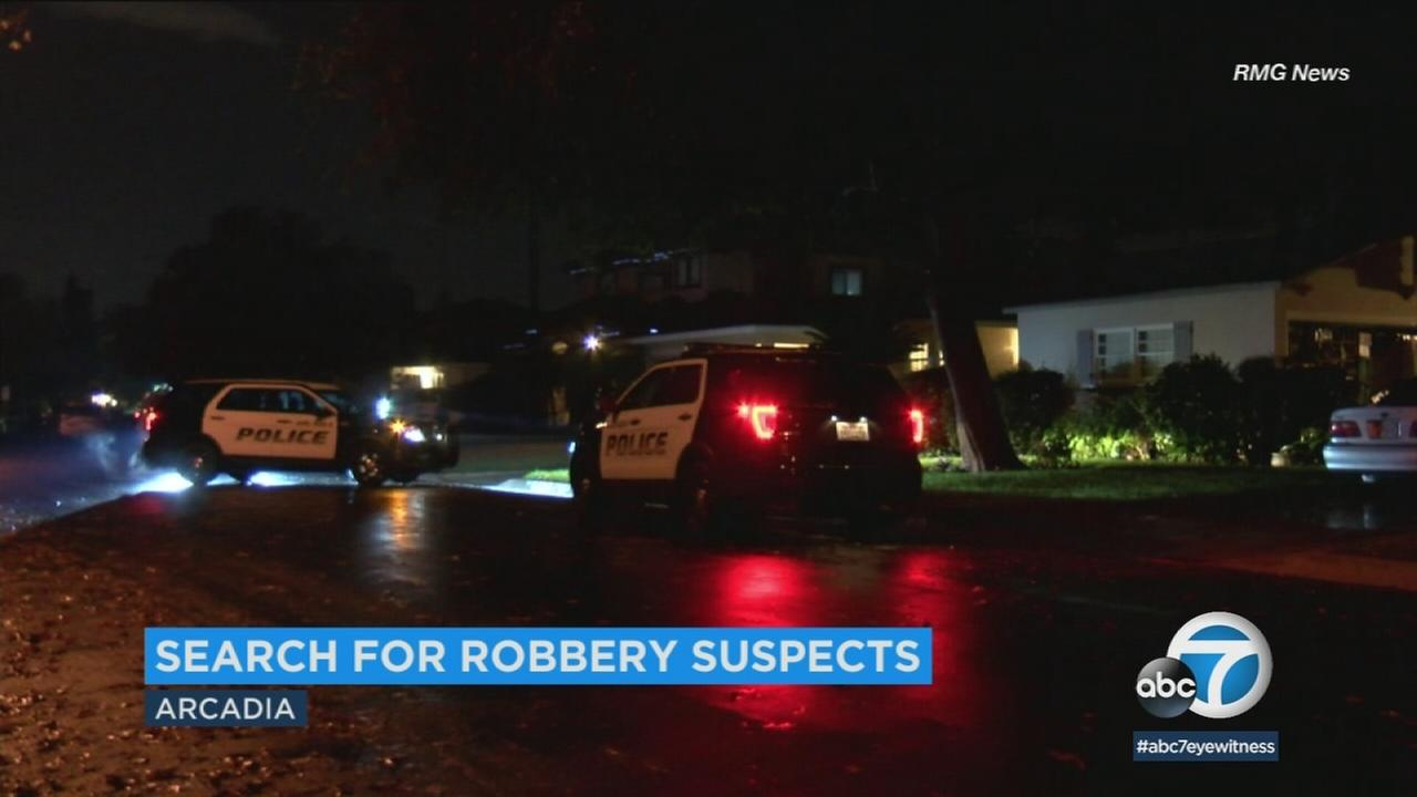Police in Arcadia are investigating two home invasion robberies that happened in quick succession that they believe may be related.