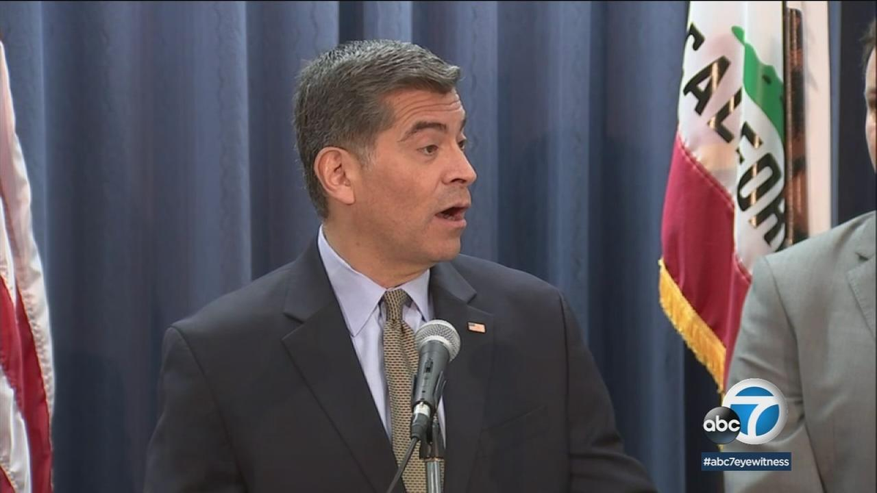 California Attorney General Xavier Becerra speaks at a press conference on Wednesday, Jan. 10, 2018.