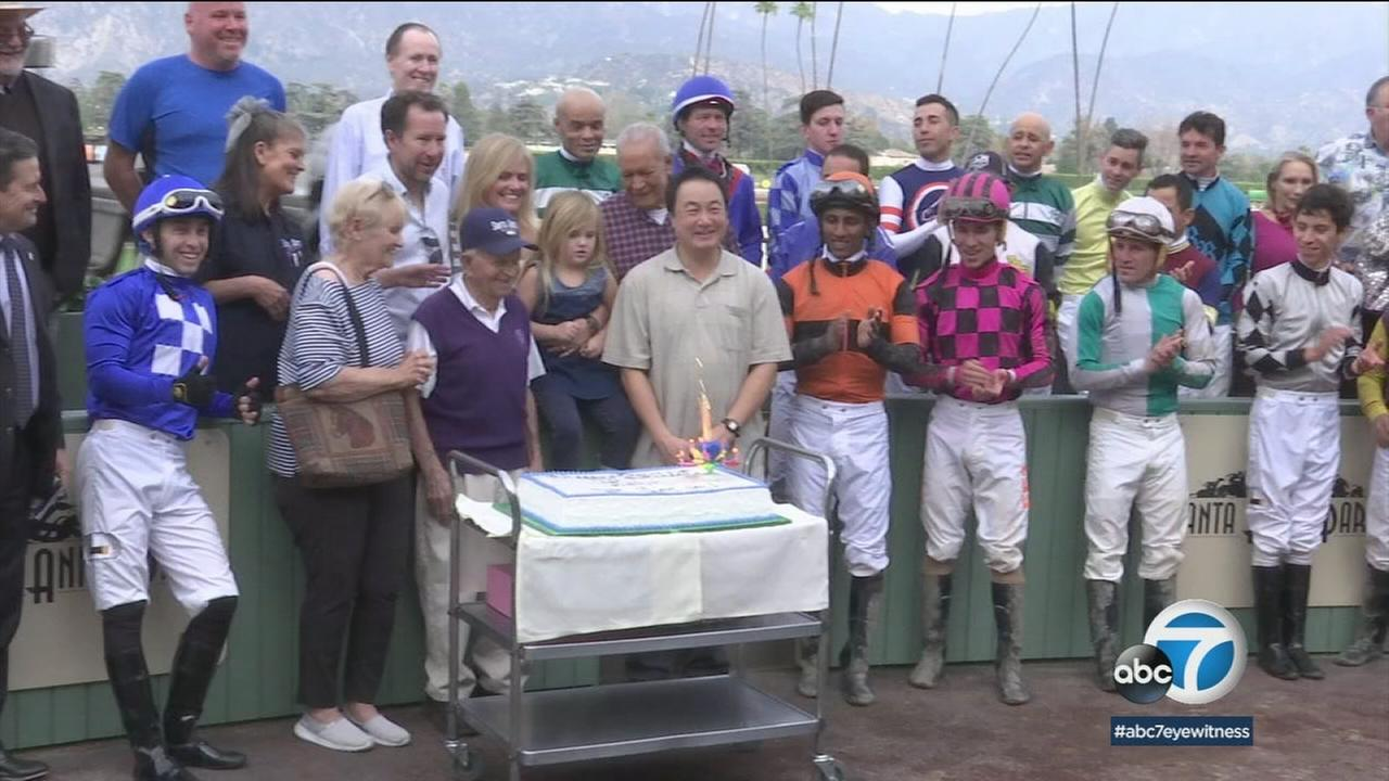 On Wednesday, Shear will celebrate his 97th birthday. He credits working at Santa Anita as the key to his longevity