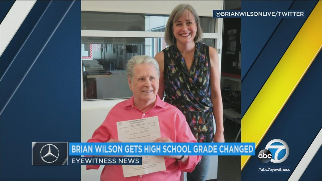 Wouldnt it be nice if you could go back to high school and bump up your grades? The Beach Boys Brian Wilson did just that.