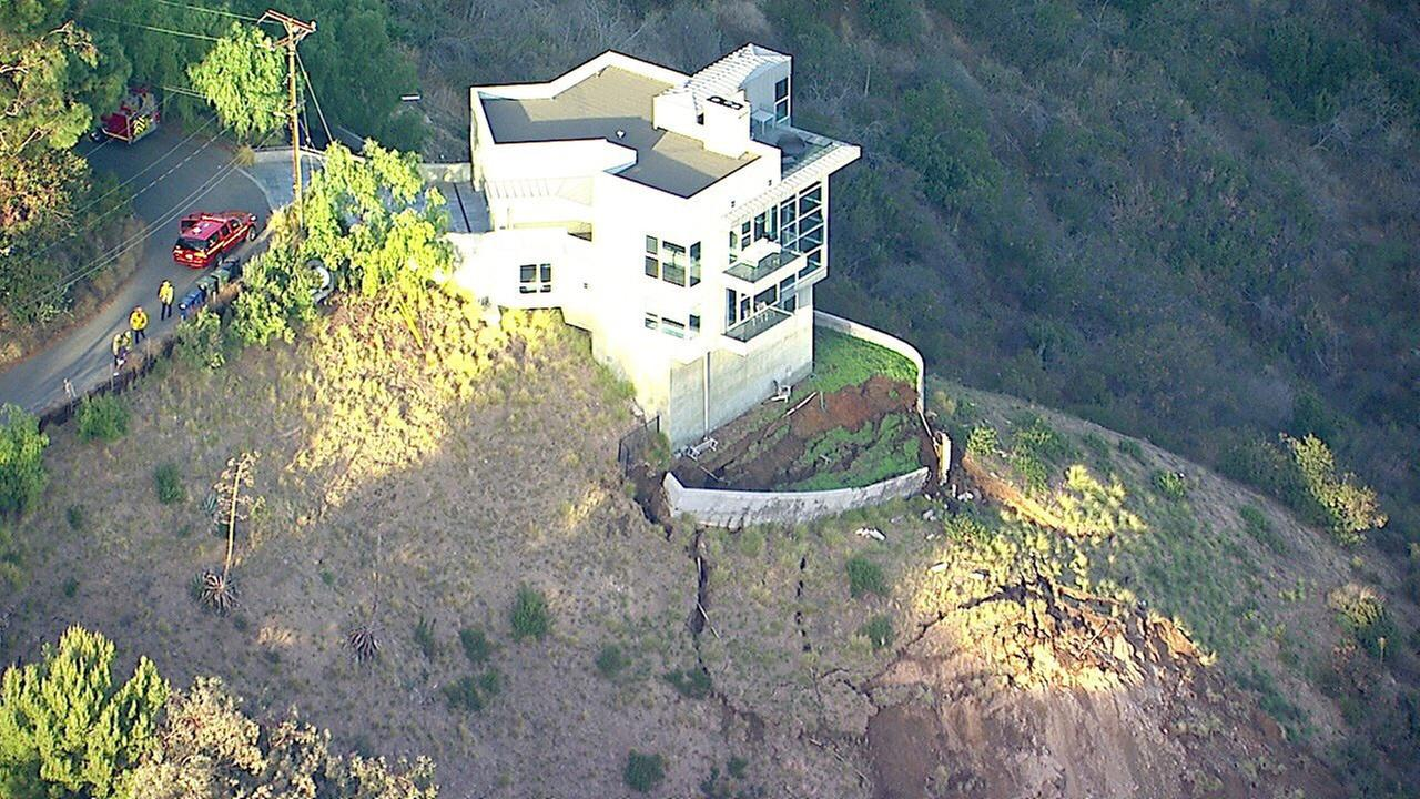 An active landslide in Malibu was threatening a three-story home in Malibu on Wednesday, according to fire officials.