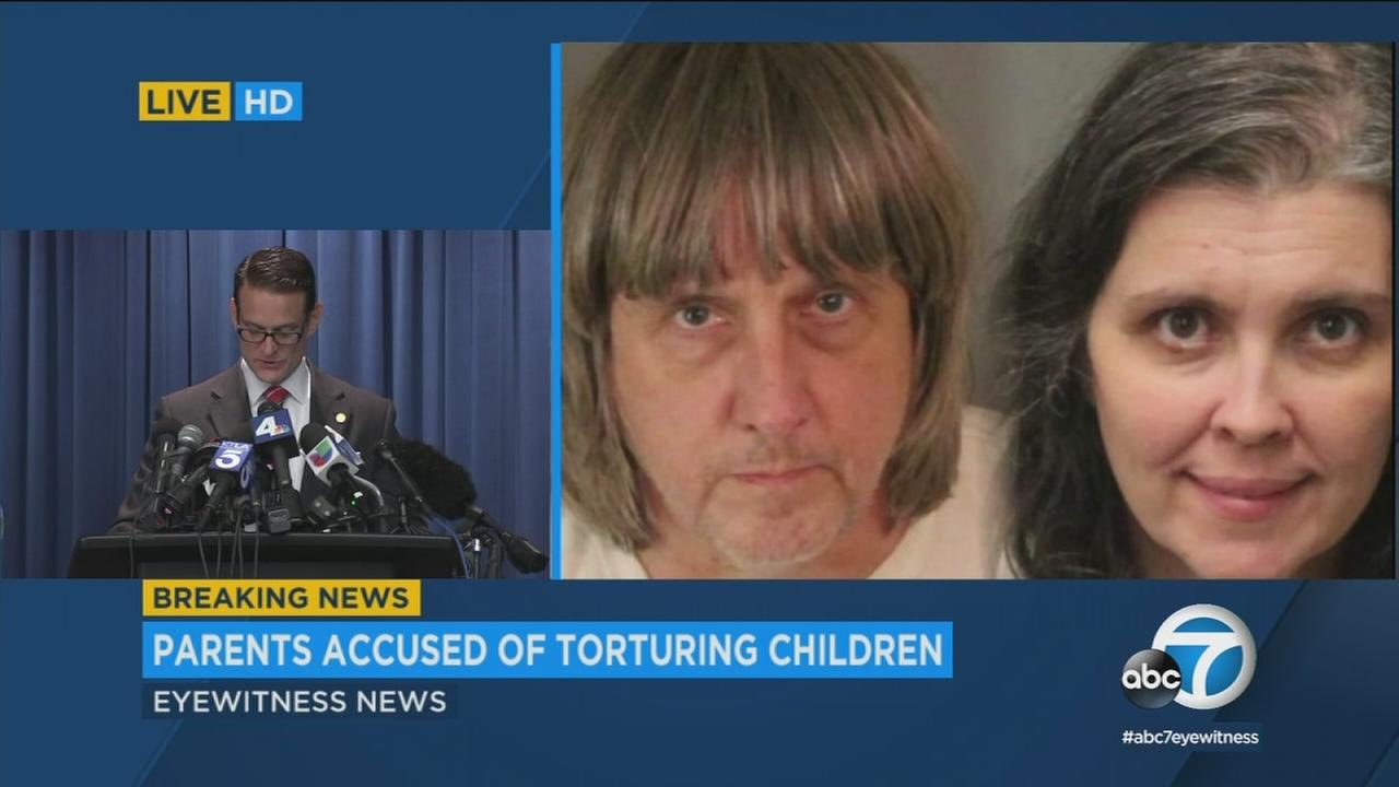 Criminal charges are announced in the Perris torture case on Thursday, Jan. 18, 2018.