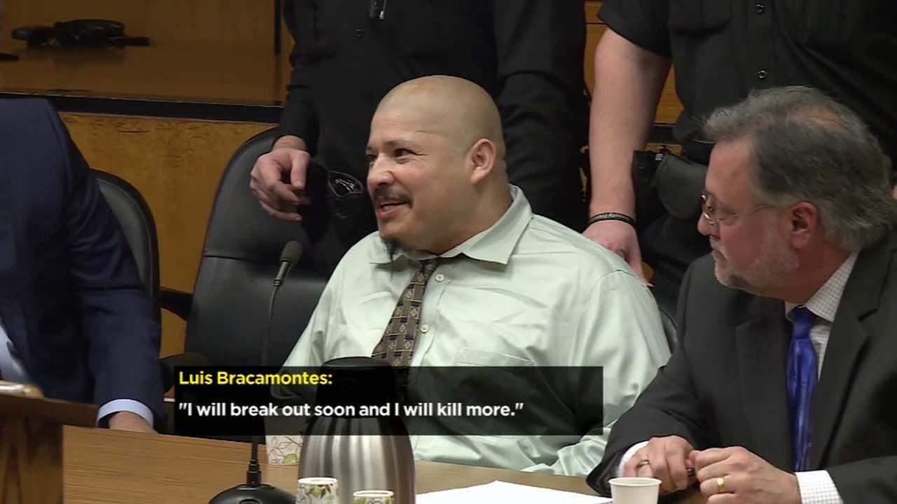 Luis Bracamontes has a courtroom outburst in this video.