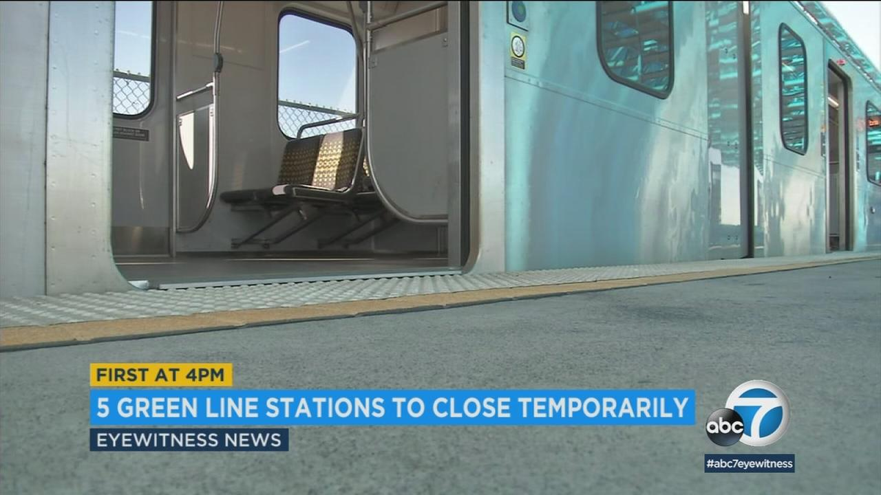 About 7,000 Metro passengers will have to make adjustments beginning Friday. Metro is closing five of its Green Line stations to make way for the Crenshaw-LAX project.