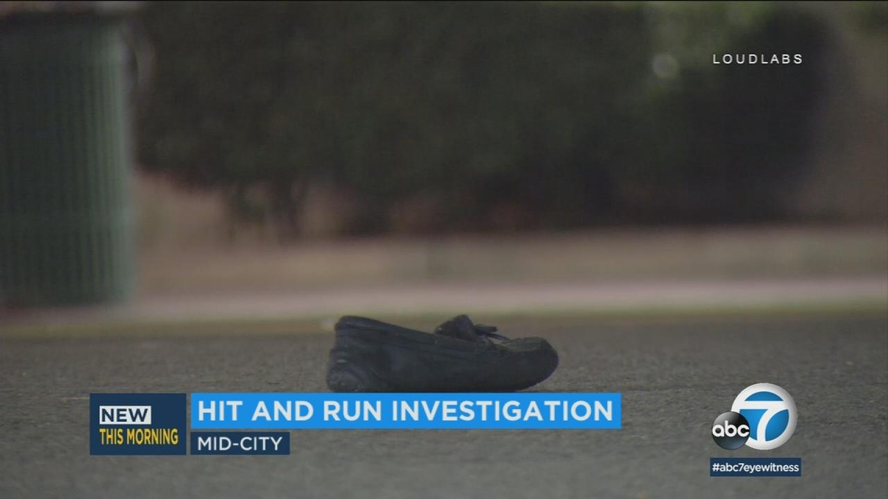 The scene of a fatal hit-and-run in Mid-City on Tuesday, Jan. 23, 2018.