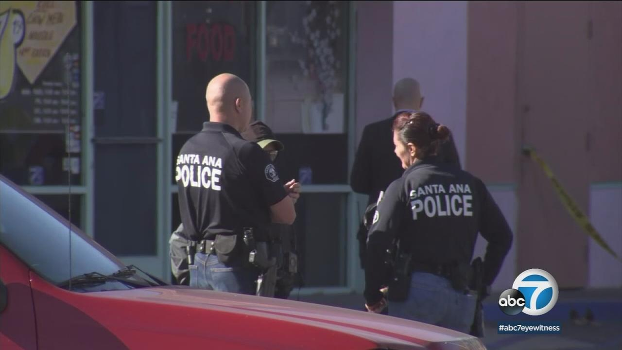 Santa Ana police raided two locations in a strip mall on the 400 block of West 17th Street that they say were housing illegal marijuana dispensaries.