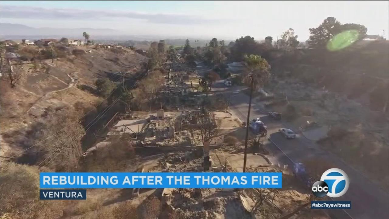Government agencies in Ventura are making it easier for residents who lost homes and businesses in the Thomas Fire to rebuild.
