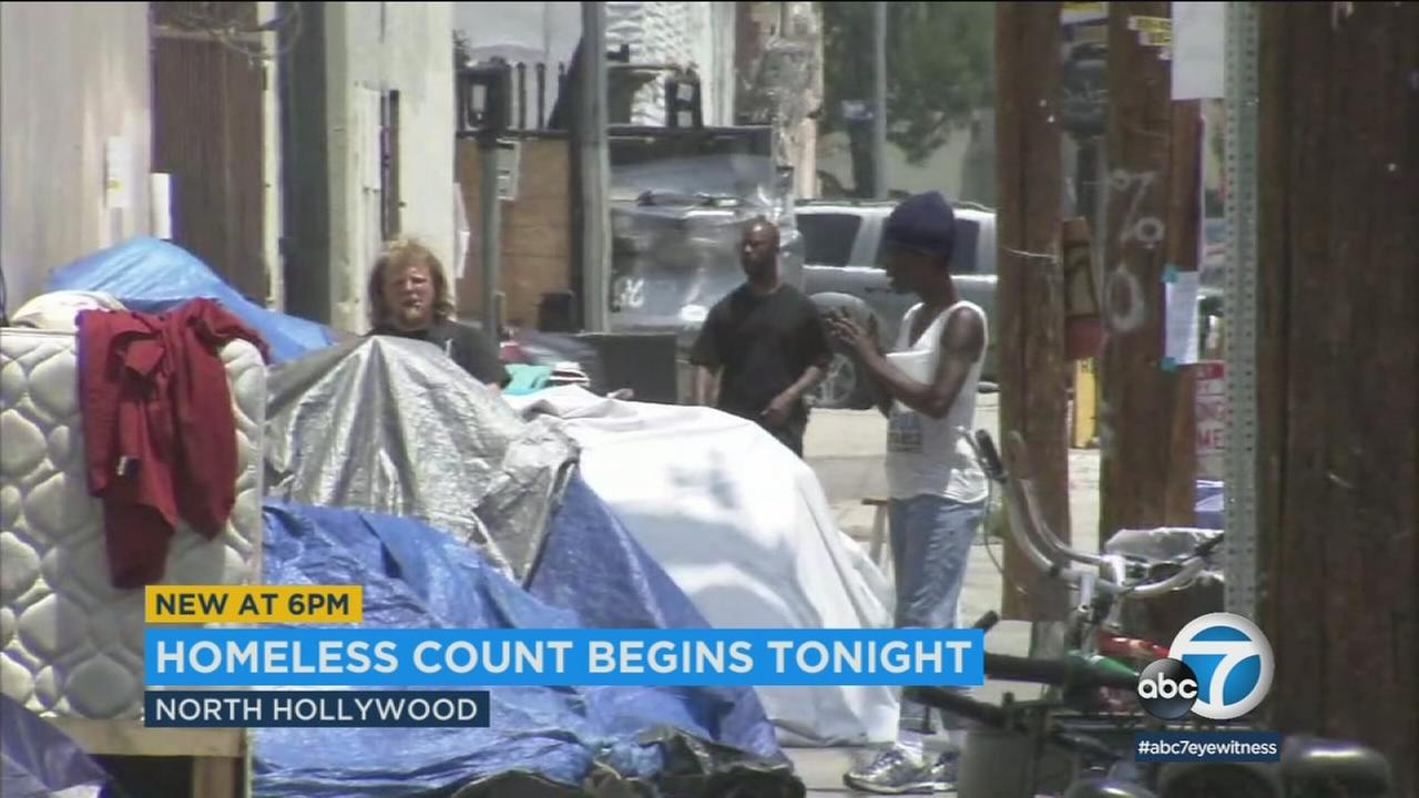 With homelessness on the increase, thousands of volunteers are fanning out across Los Angeles to count the number of people living on the streets.