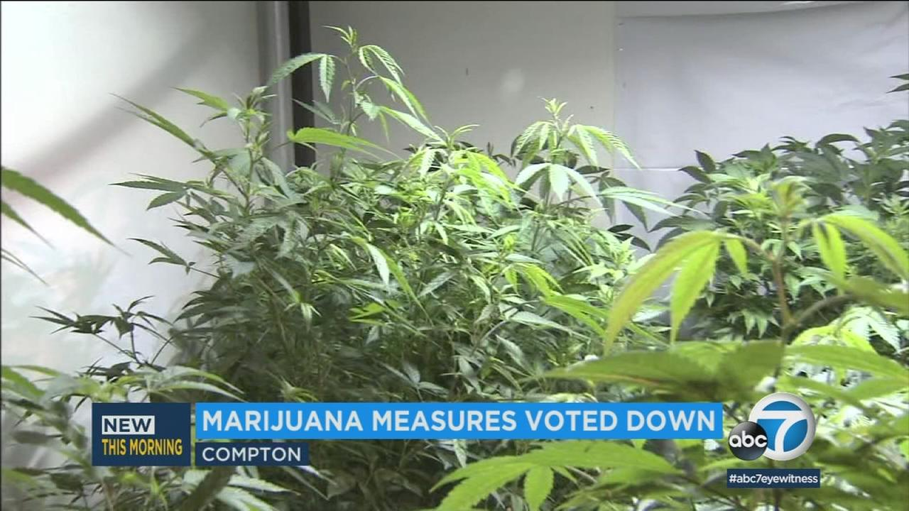 Compton voters were weighing whether marijuana dispensaries could pay for improvements the city urgently needs.