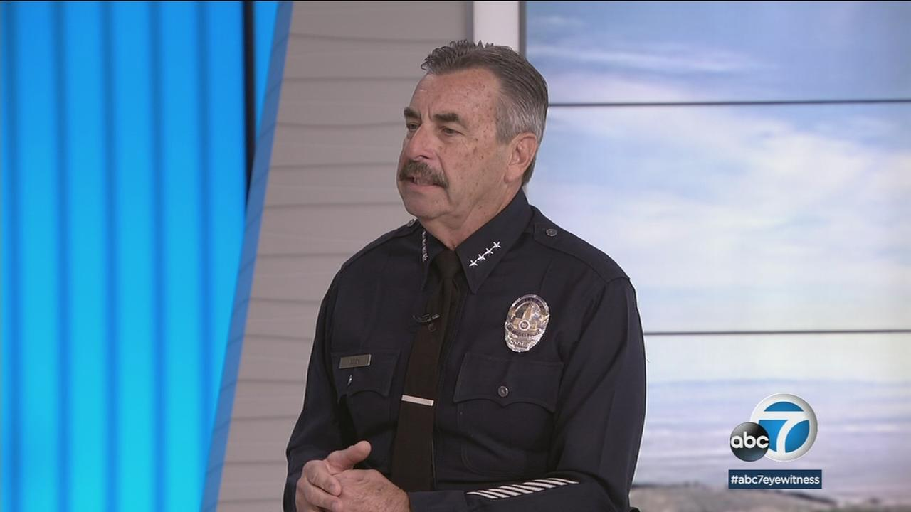 LAPD Chief Charlie Beck speaks on Eyewitness News on Wednesday, Jan. 24, 2018.
