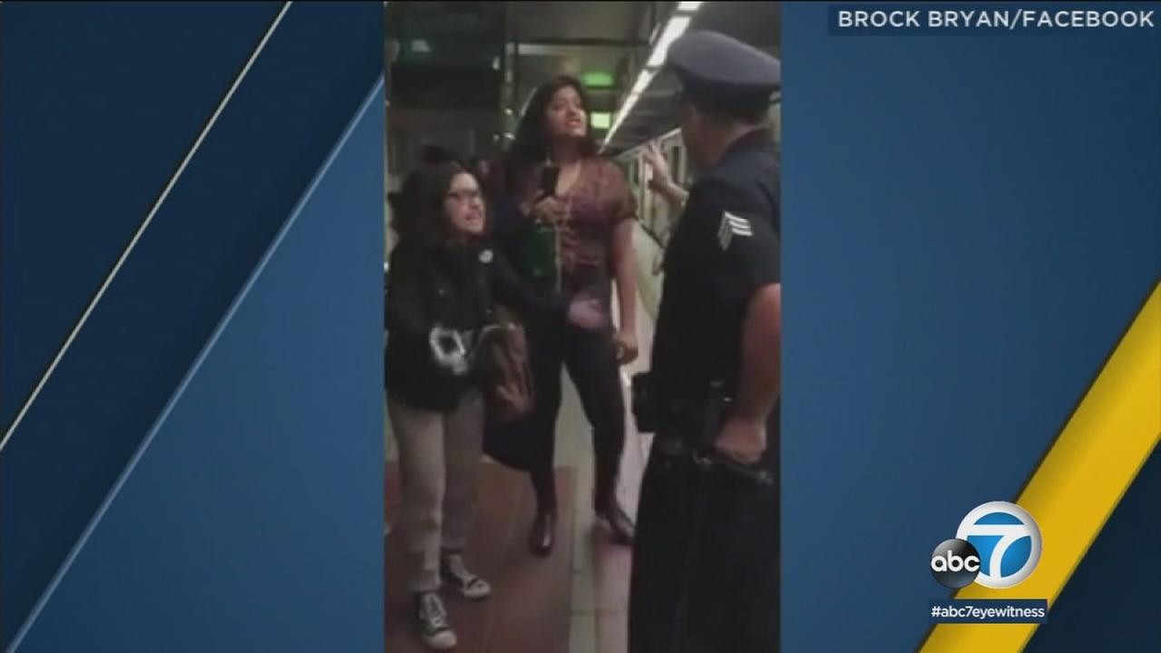 Selena Lechuga, 22, is shown alongside Bethany Nava, 18, who was kicked off a Metro Red Line train.